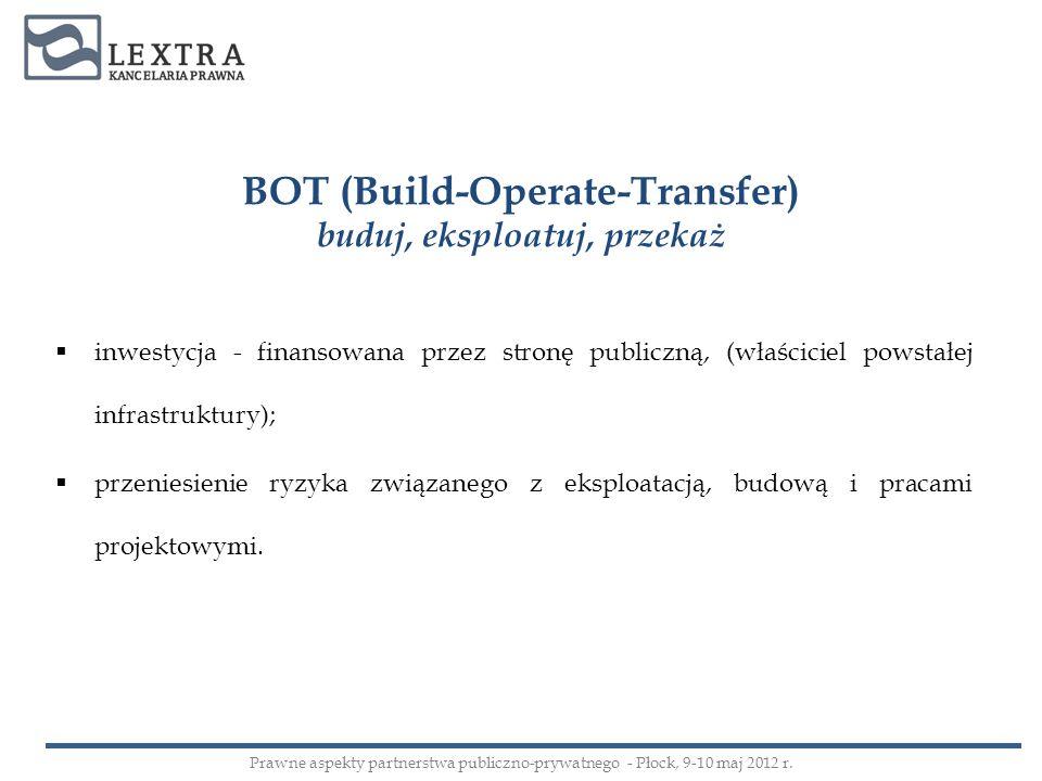 BOT (Build-Operate-Transfer) buduj, eksploatuj, przekaż