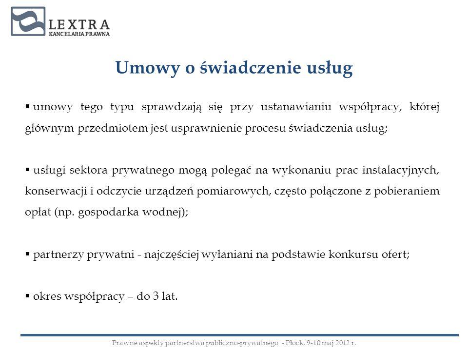 Umowy o świadczenie usług