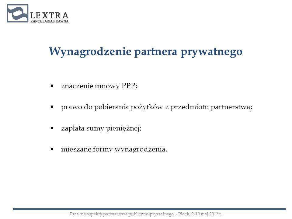 Wynagrodzenie partnera prywatnego