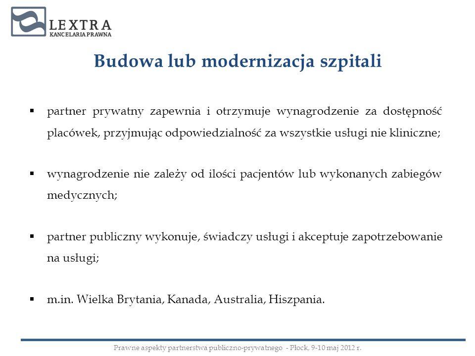 Budowa lub modernizacja szpitali