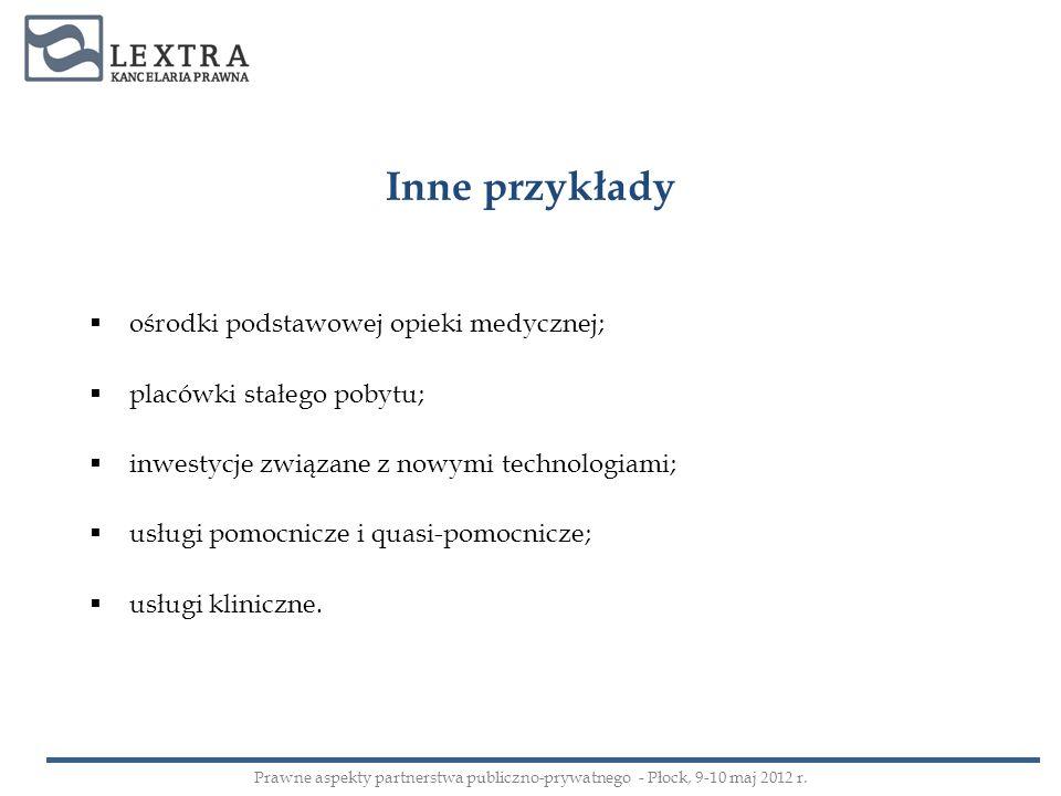 Inne przykłady ośrodki podstawowej opieki medycznej;