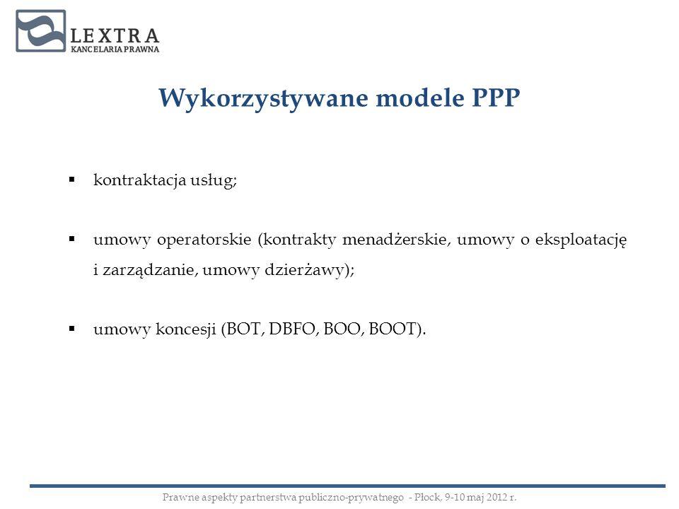Wykorzystywane modele PPP