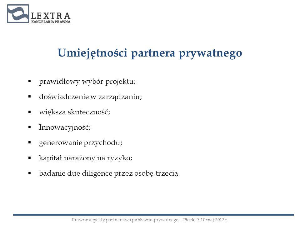 Umiejętności partnera prywatnego