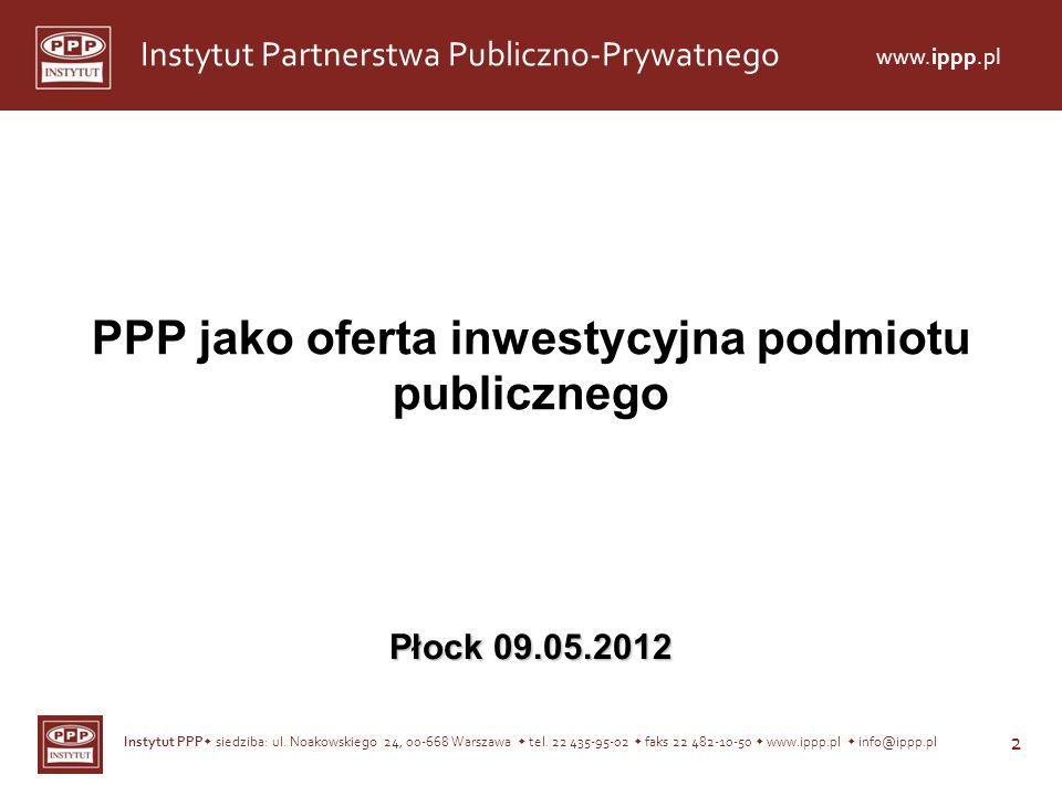 PPP jako oferta inwestycyjna podmiotu publicznego