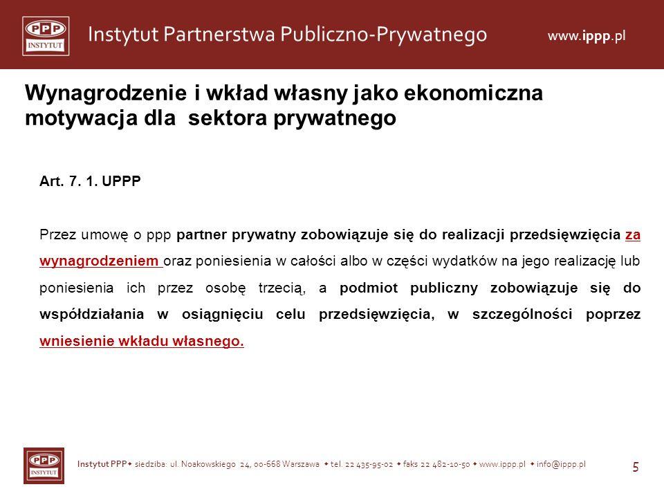 Wynagrodzenie i wkład własny jako ekonomiczna motywacja dla sektora prywatnego