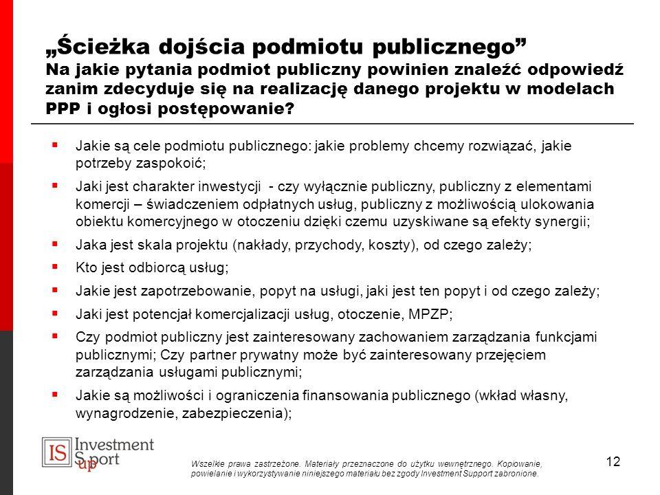 """""""Ścieżka dojścia podmiotu publicznego Na jakie pytania podmiot publiczny powinien znaleźć odpowiedź zanim zdecyduje się na realizację danego projektu w modelach PPP i ogłosi postępowanie"""