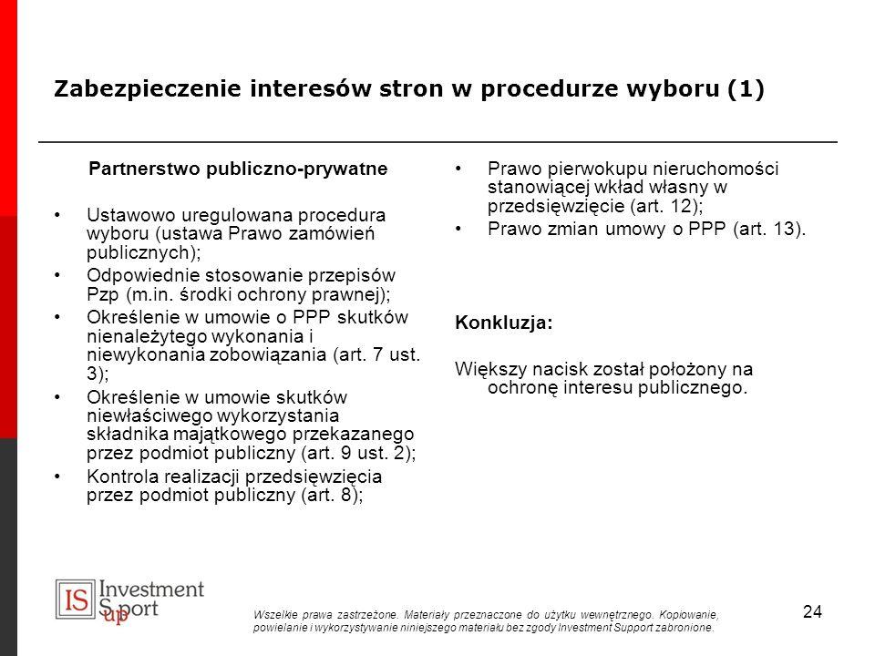Zabezpieczenie interesów stron w procedurze wyboru (1)