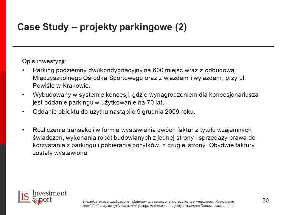 Case Study – projekty parkingowe (2)