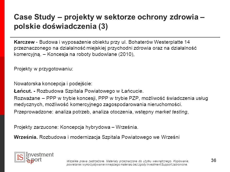 Case Study – projekty w sektorze ochrony zdrowia – polskie doświadczenia (3)