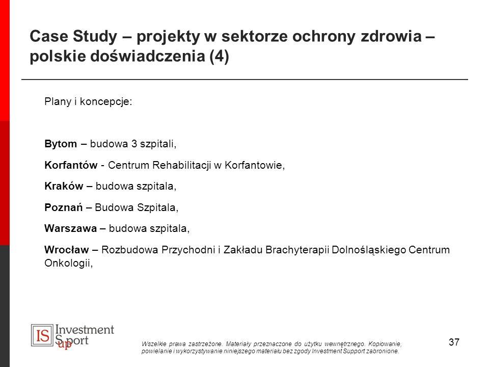 Case Study – projekty w sektorze ochrony zdrowia – polskie doświadczenia (4)