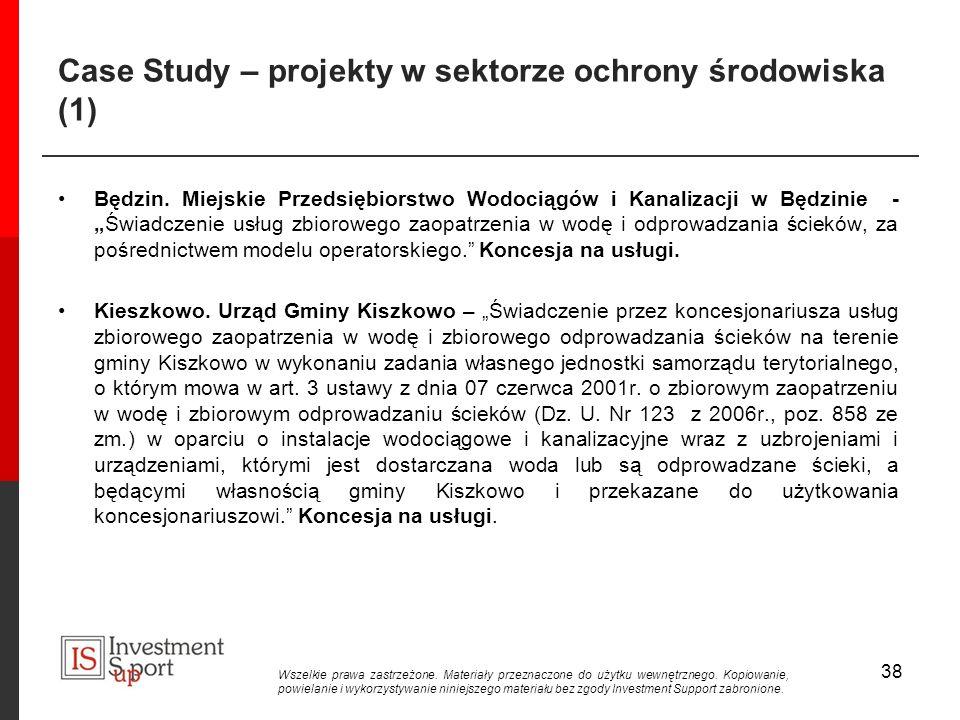 Case Study – projekty w sektorze ochrony środowiska (1)