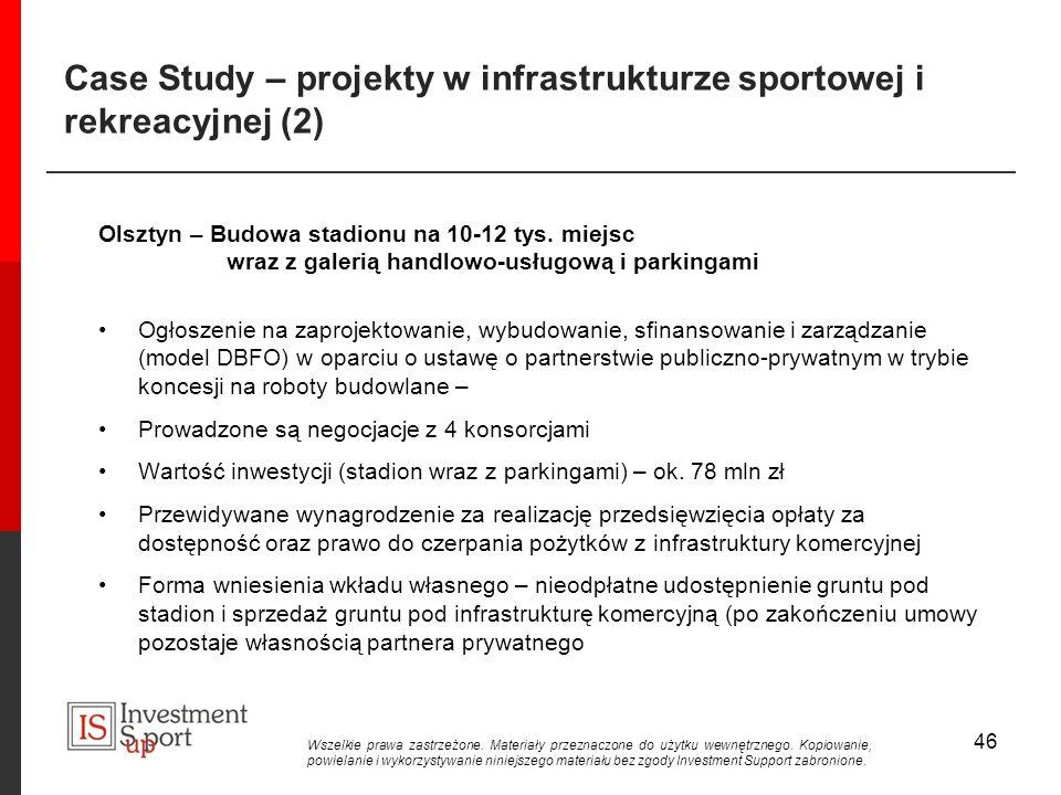 Case Study – projekty w infrastrukturze sportowej i rekreacyjnej (2)