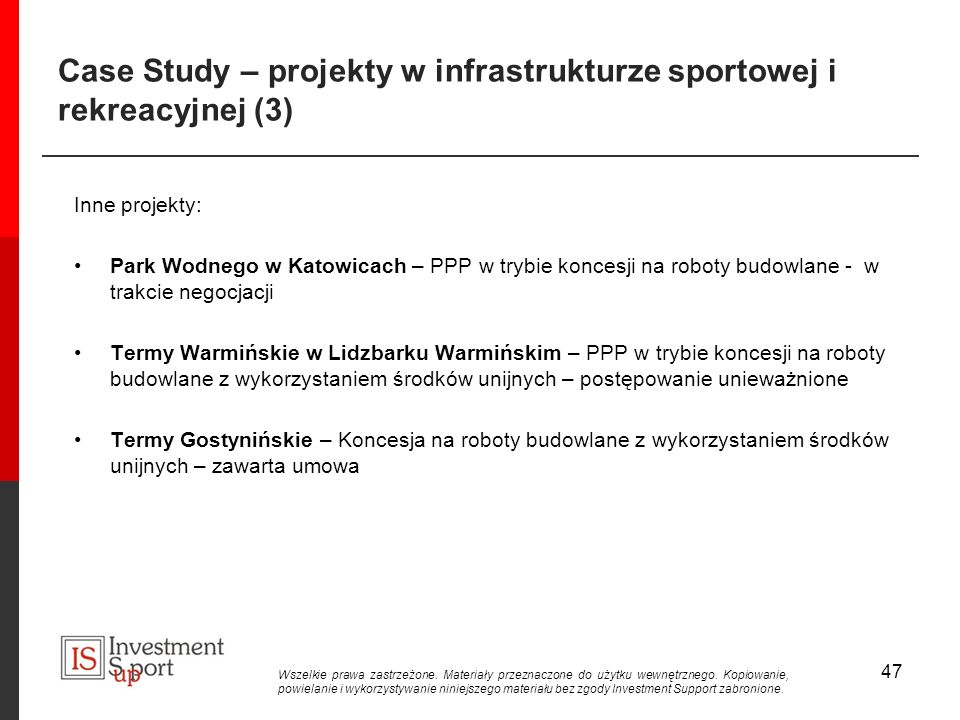 Case Study – projekty w infrastrukturze sportowej i rekreacyjnej (3)