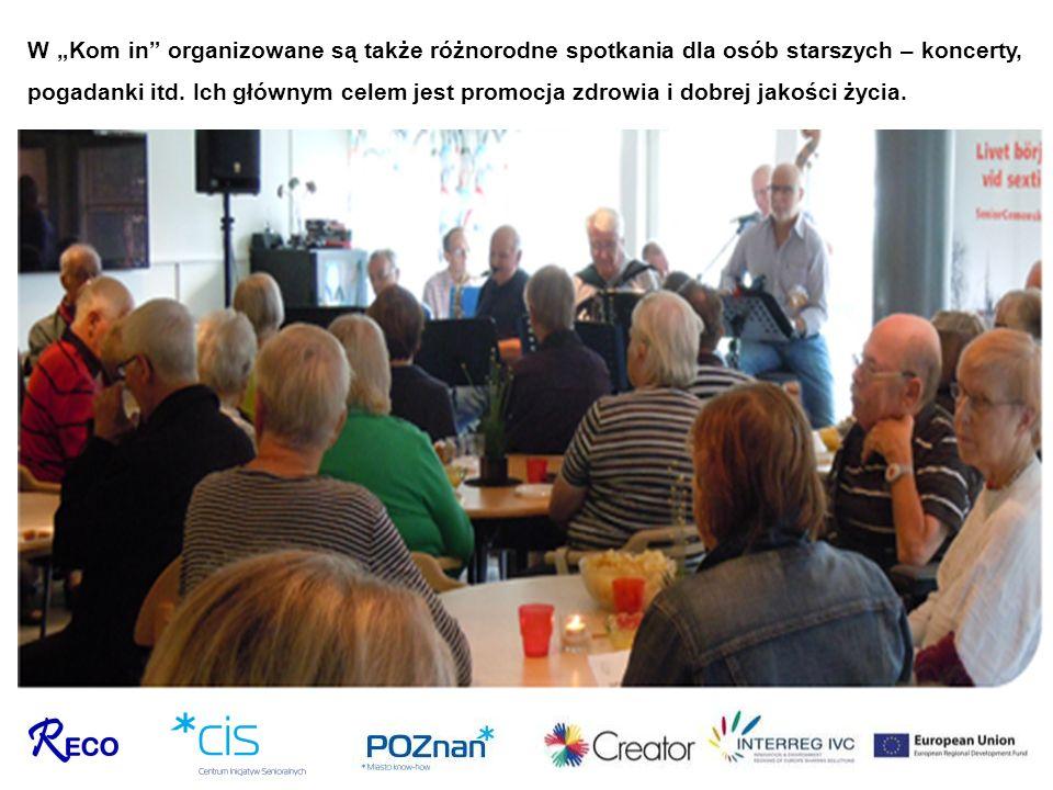 """W """"Kom in organizowane są także różnorodne spotkania dla osób starszych – koncerty, pogadanki itd."""