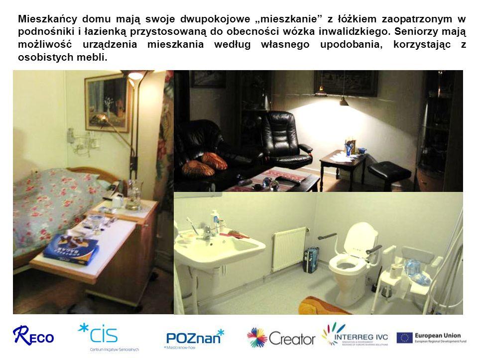 """Mieszkańcy domu mają swoje dwupokojowe """"mieszkanie z łóżkiem zaopatrzonym w podnośniki i łazienką przystosowaną do obecności wózka inwalidzkiego."""
