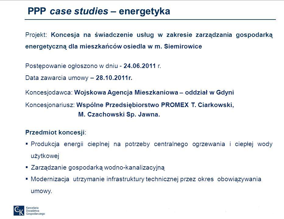 PPP case studies – energetyka