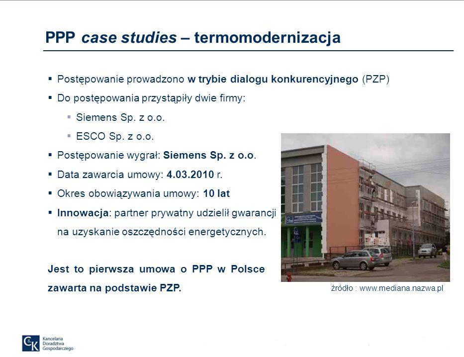 PPP case studies – termomodernizacja