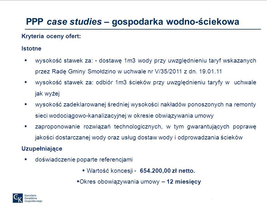 PPP case studies – gospodarka wodno-ściekowa