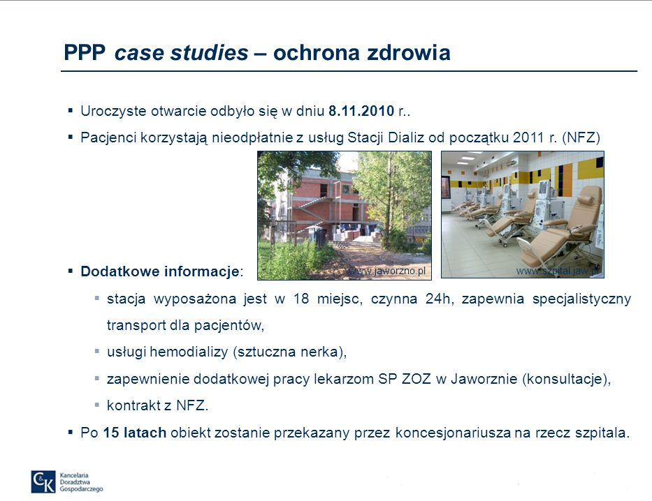 PPP case studies – ochrona zdrowia