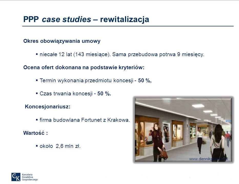 PPP case studies – rewitalizacja