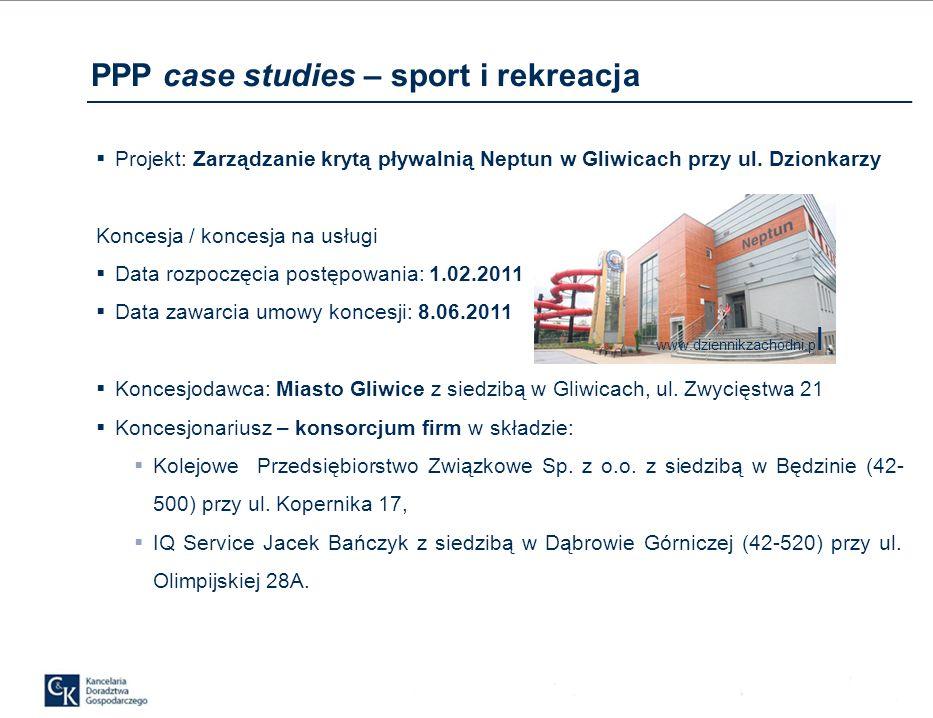 PPP case studies – sport i rekreacja