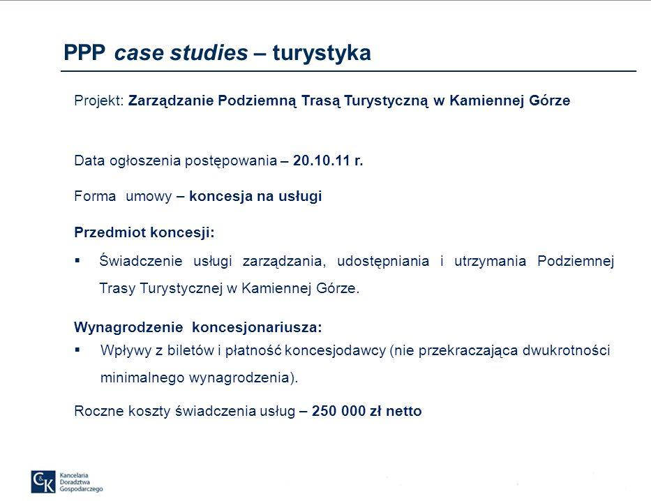 PPP case studies – turystyka