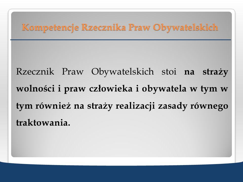 Kompetencje Rzecznika Praw Obywatelskich