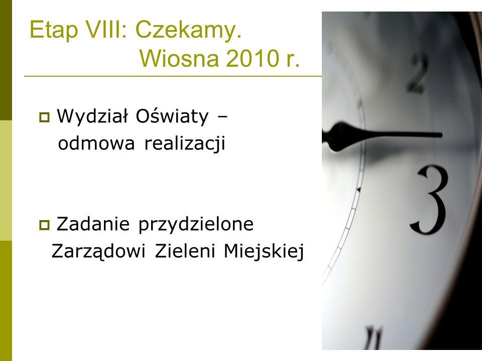 Etap VIII: Czekamy. Wiosna 2010 r.