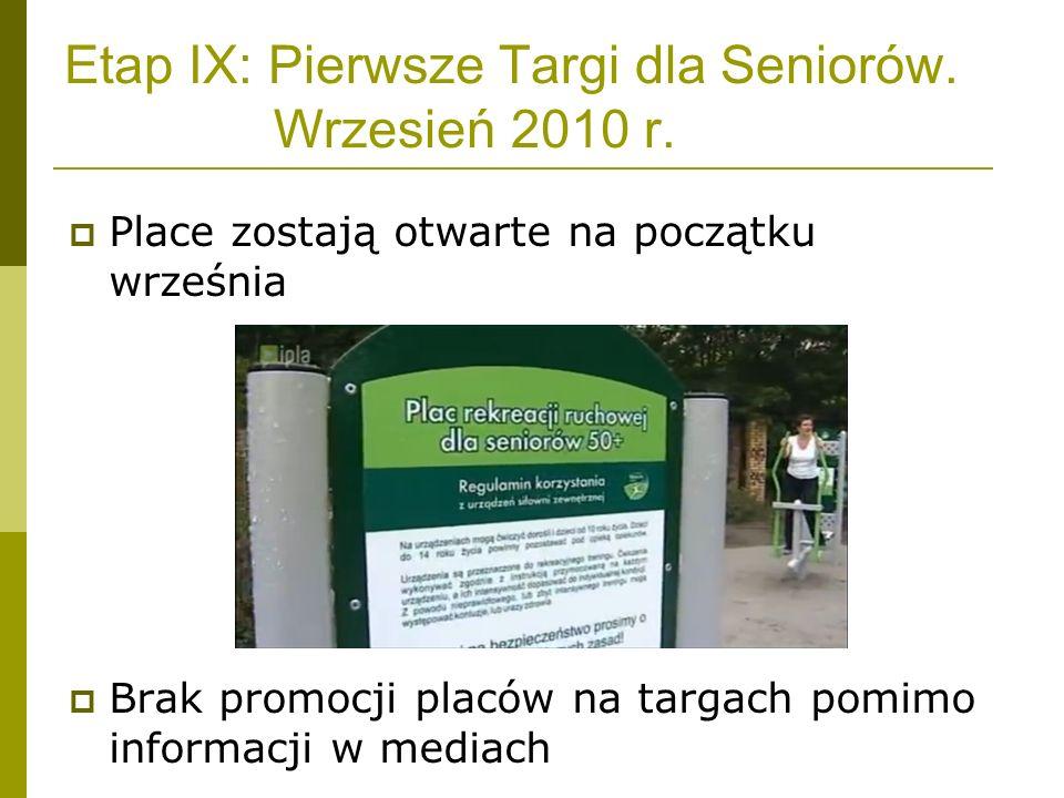 Etap IX: Pierwsze Targi dla Seniorów. Wrzesień 2010 r.