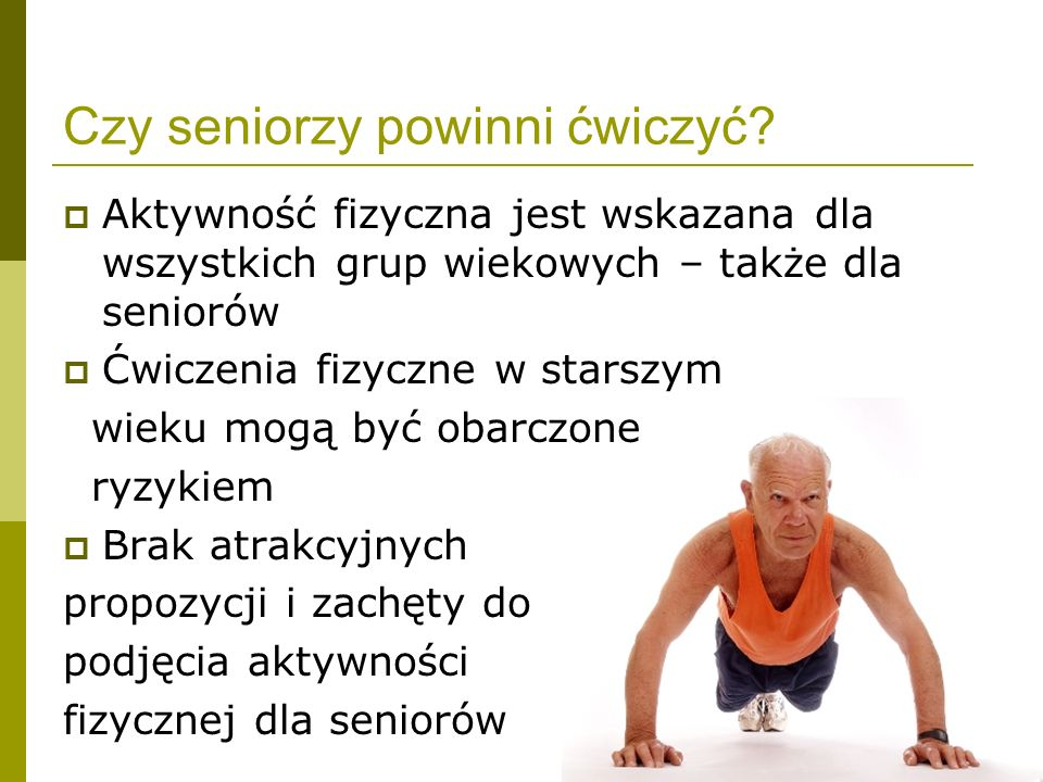 Czy seniorzy powinni ćwiczyć