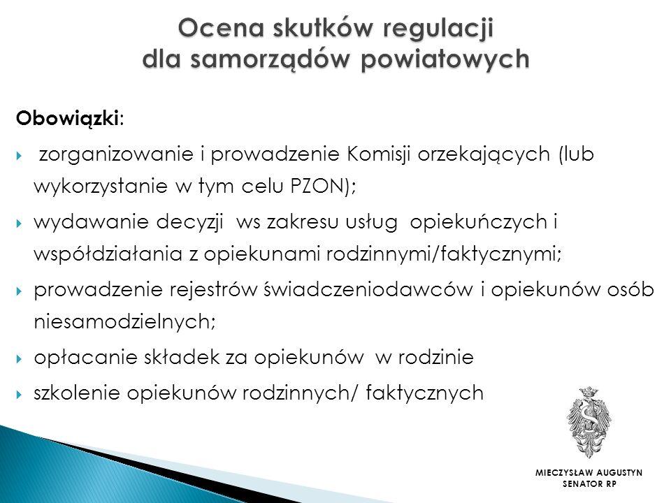 Ocena skutków regulacji dla samorządów powiatowych