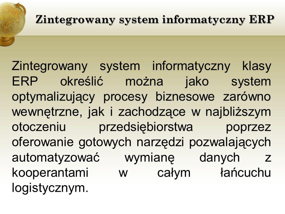 Zintegrowany system informatyczny ERP