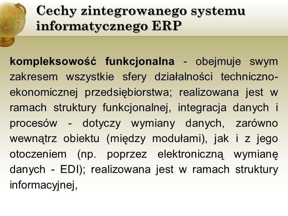 Cechy zintegrowanego systemu informatycznego ERP