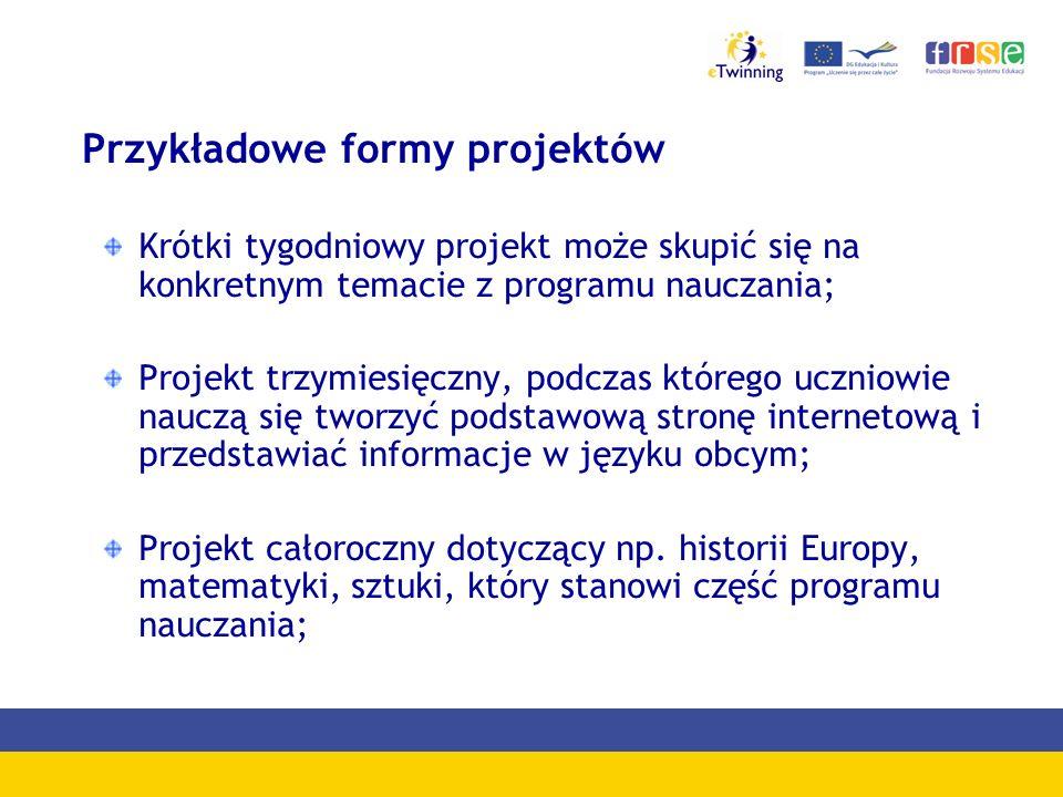 Przykładowe formy projektów