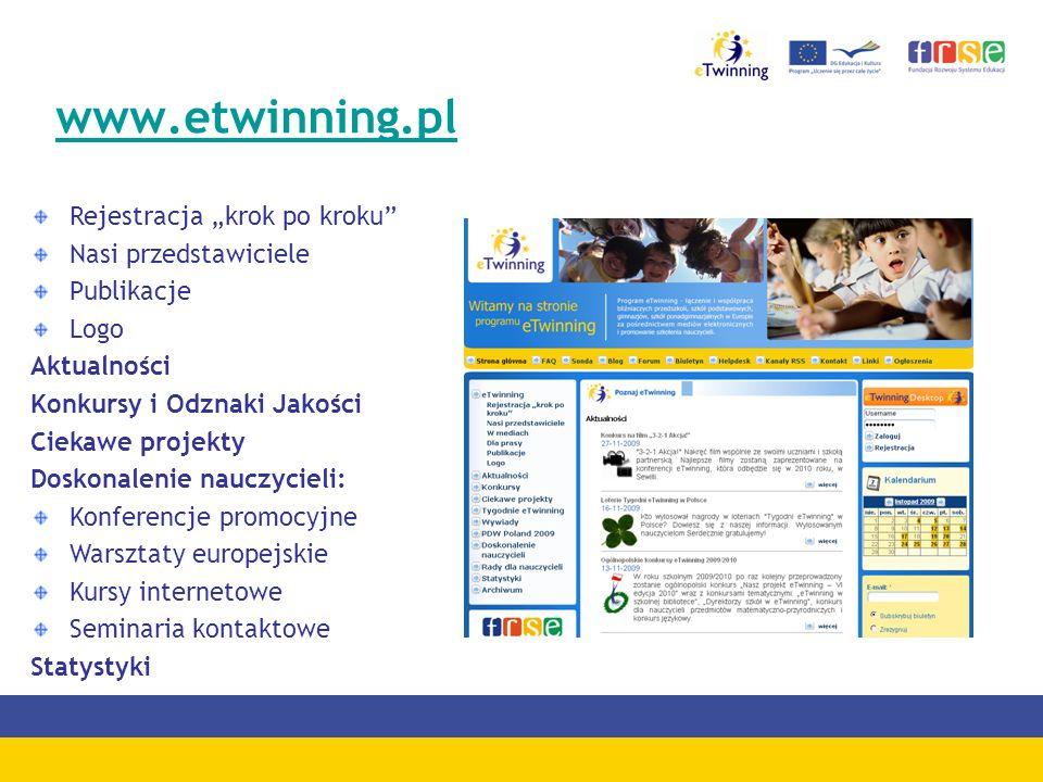 """www.etwinning.pl Rejestracja """"krok po kroku Nasi przedstawiciele"""