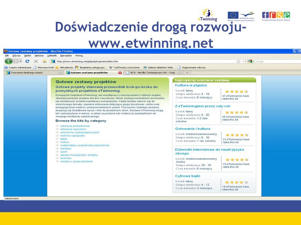 Doświadczenie drogą rozwoju-www.etwinning.net