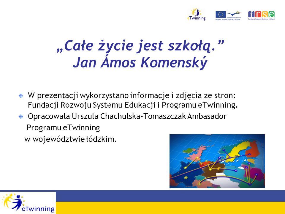 """""""Całe życie jest szkołą. Jan Ámos Komenský"""