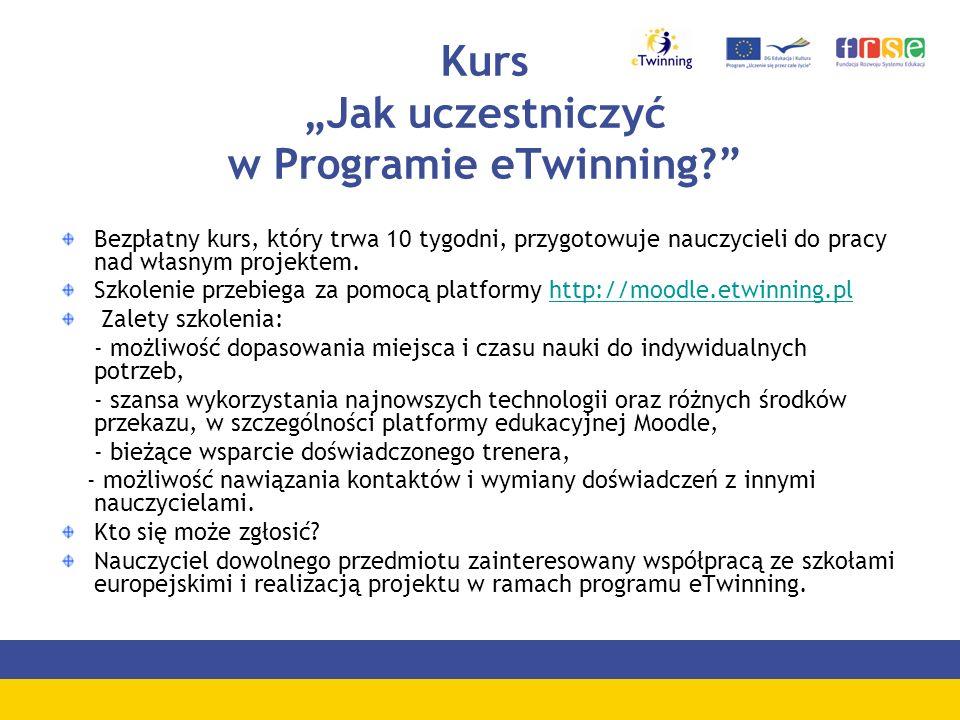 """Kurs """"Jak uczestniczyć w Programie eTwinning"""