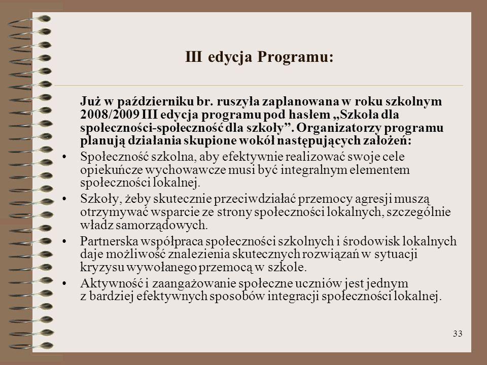 III edycja Programu: