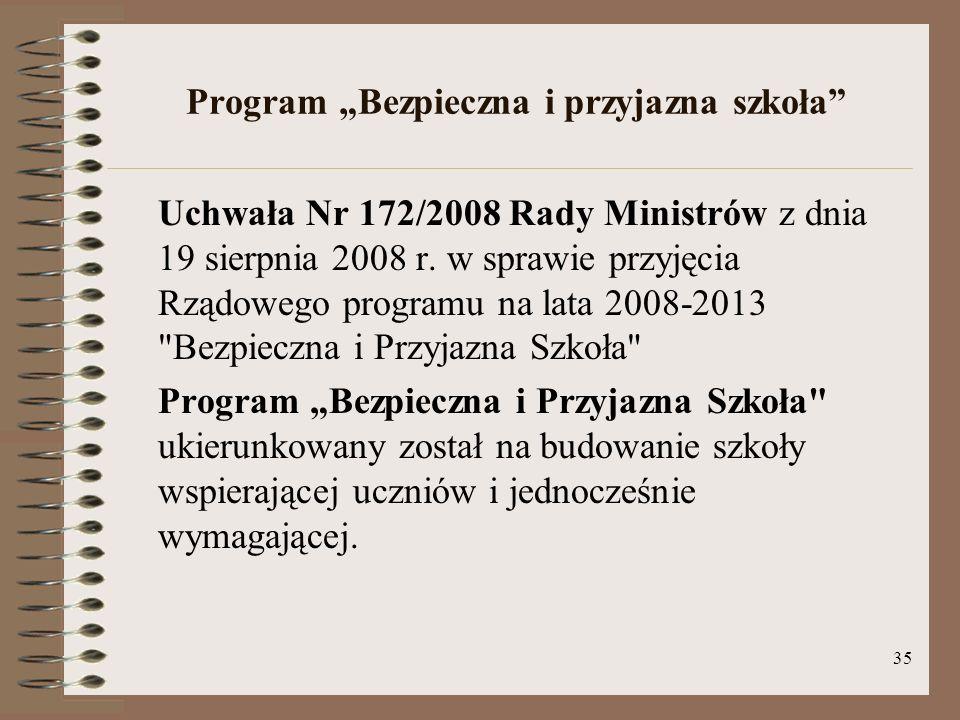 """Program """"Bezpieczna i przyjazna szkoła"""