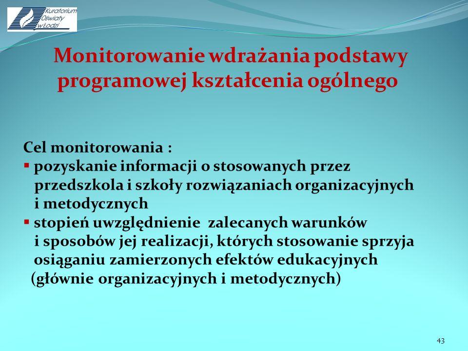 Monitorowanie wdrażania podstawy programowej kształcenia ogólnego
