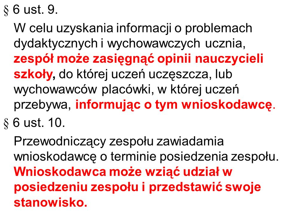 § 6 ust. 9.