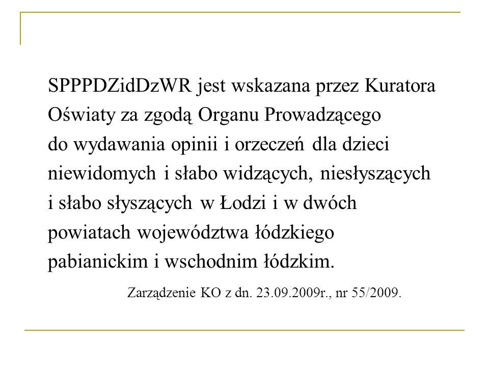 SPPPDZidDzWR jest wskazana przez Kuratora
