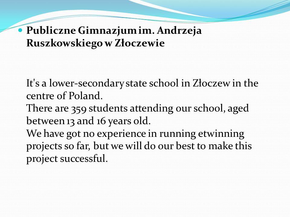 Publiczne Gimnazjum im. Andrzeja Ruszkowskiego w Złoczewie