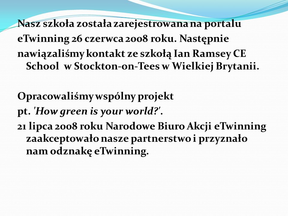 Nasz szkoła została zarejestrowana na portalu