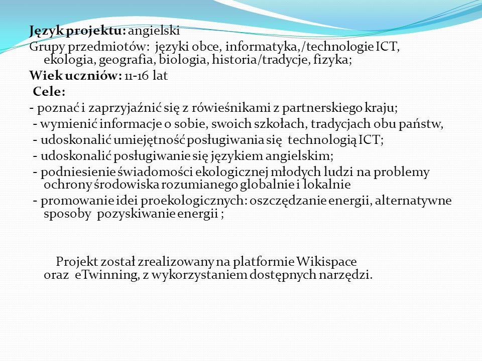 Język projektu: angielski