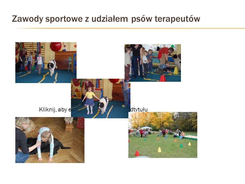 Zawody sportowe z udziałem psów terapeutów