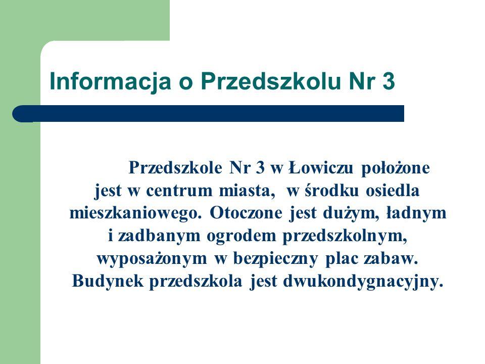 Informacja o Przedszkolu Nr 3