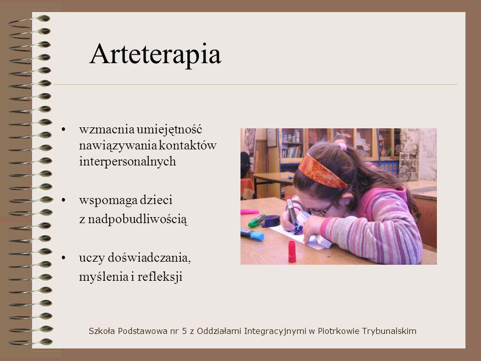 Arteterapia wzmacnia umiejętność nawiązywania kontaktów interpersonalnych. wspomaga dzieci. z nadpobudliwością.