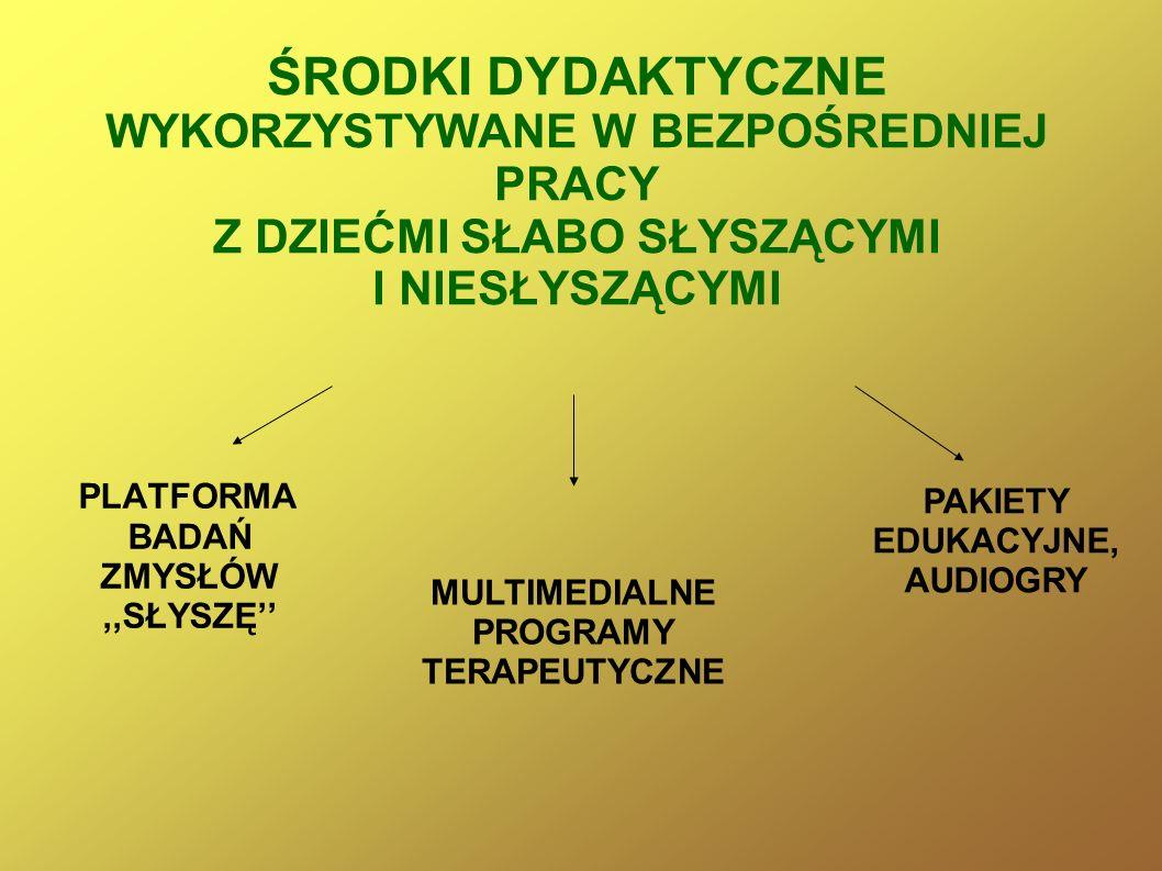 PAKIETY EDUKACYJNE, AUDIOGRY MULTIMEDIALNE PROGRAMY TERAPEUTYCZNE